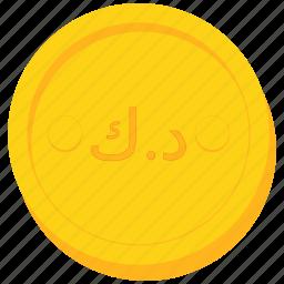 coin, currency, dinar, gold, kuwait, kuwaiti icon