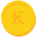coin, currency, gold, kip, lao, laos icon