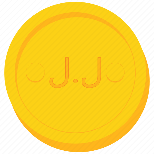 coin, currency, gold, lebanese, pound icon