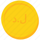 coin, currency, dinar, gold, libya, libyan icon