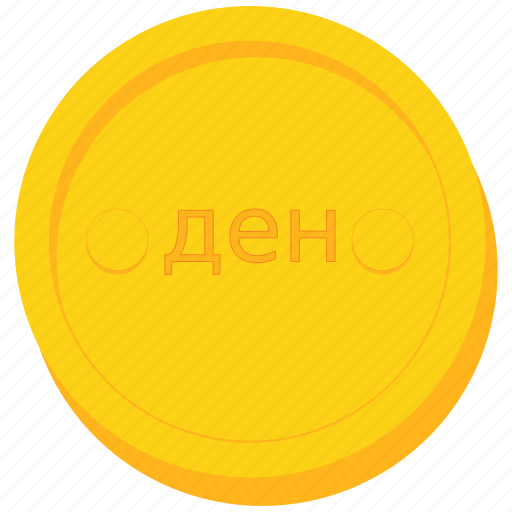 coin, currency, denar, gold, macedonia, macedonian icon
