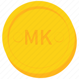 coin, currency, gold, kwacha, malawi, malawian icon