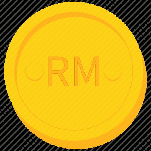 coin, currency, gold, malaysia, malaysian, ringgit icon