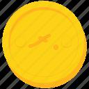 coin, currency, gold, maldives, maldivian, rufiyaa icon