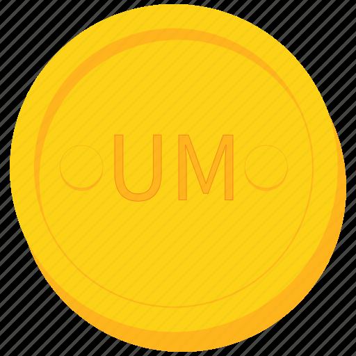 coin, currency, gold, mauritania, mauritanian, ouguiya icon