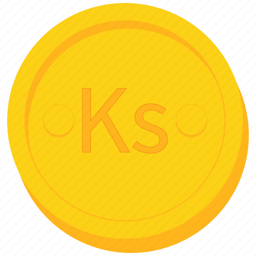 burma, burmese, coin, currency, gold, kyat, myanmar icon