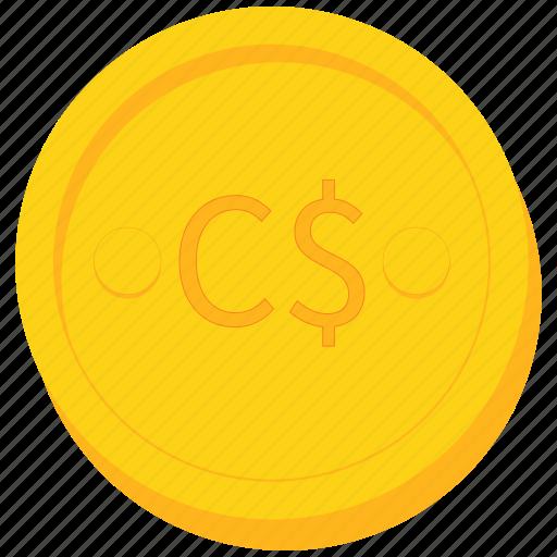 coin, cordoba, currency, gold, nicaragua, nicaraguan icon