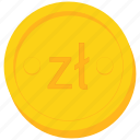 coin, currency, gold, poland, polish, zloty icon