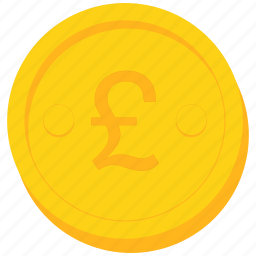 britain, coin, currency, gold, great, pound, sign icon