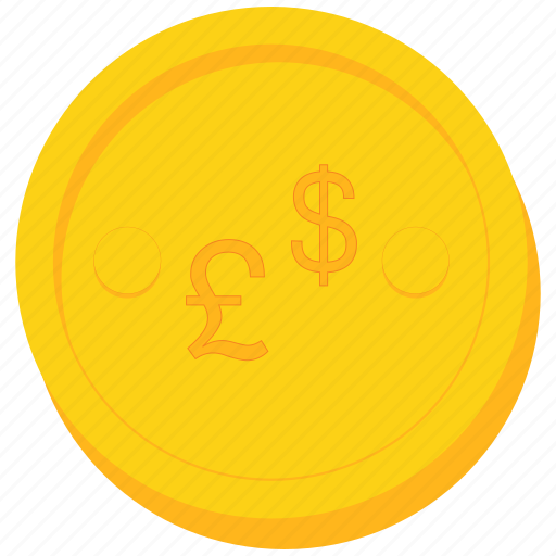 coin, currency, dollar, forex, gold, pound, sign icon