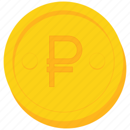 coin, currency, gold, ruble, sign icon