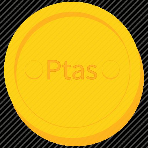 coin, currency, gold, peseta, sahrawi icon