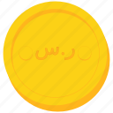 arabia, arabian, coin, currency, gold, riyal, saudi icon