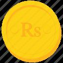 coin, currency, gold, pakistani, rupee, seychellois, srilankan icon
