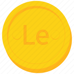 coin, currency, gold, leone, leonean, sierra icon
