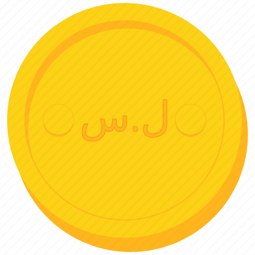 coin, currency, gold, pound, syria, syrian icon