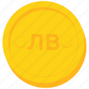 bulgarian, coin, currency, gold, kyrgyzstani, levbrazil, som, uzebekistan icon