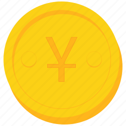 chinese, coin, currency, gold, japanese, yen, yuan icon