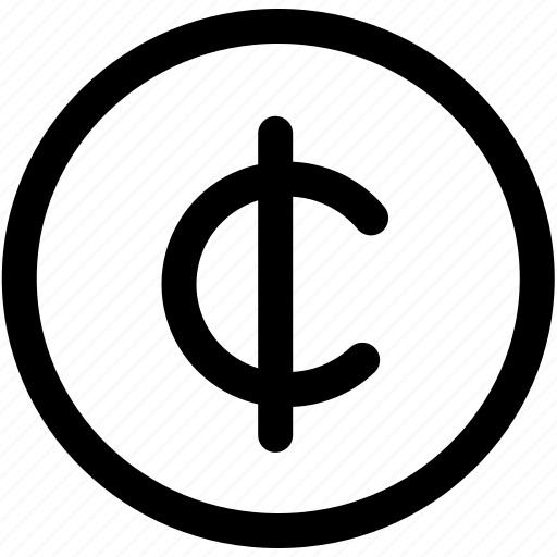 cent, coin, currency, money, sign icon