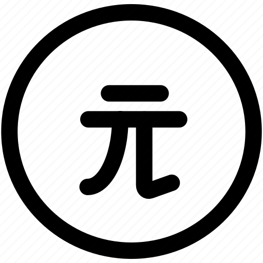 coin, currency, dollar, money, sign, taiwan icon