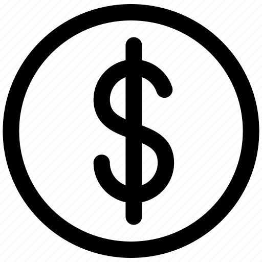 coin, currency, dollar, money, sign icon