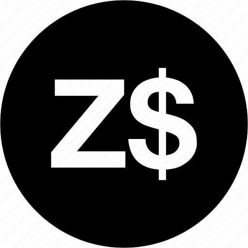 finance, money, payment, zimbabwe dollar currency, zwd icon