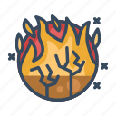 disaster, fire, flame, forest, forest fires, nature, wildfire icon