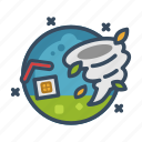 cyclone, destruction, disaster, hurricane, storm, tornado, typhoon icon