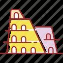 building, famous, arena, roman
