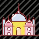 building, famous, mahal, taj icon
