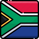 africa, counrty, flag, nation, national, south icon