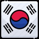 counrty, flag, korea, nation, national, south icon