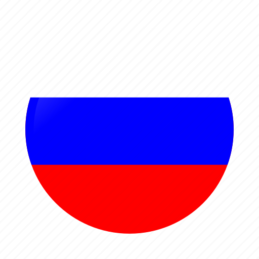 Circle, country, flag, flags, national, russia, russia flag icon