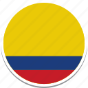 columbia, columbian flag, columbias flag, columbias square flag, flag of columbia icon