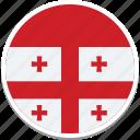 flag of georgia, georgia, georgian flag, georgias flag, georgias square flag icon