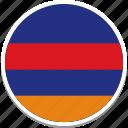 armenia, armenian flag, armenias flag, armenias square flag, flag of armenia icon