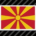 flag of macedonia, macedonia, macedonia country flag, macedonias flag, macedonias square flag icon