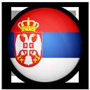 of, flag, serbia icon