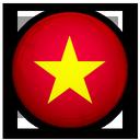of, flag, vietnam icon