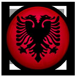albania, flag, of icon