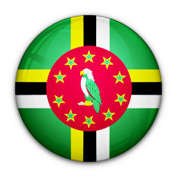 dominica, flag, of icon