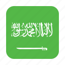 arabia, circle, circular, country, flag, of, saudi icon