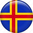 aland, country, flag, nation icon