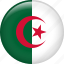algeria, country, flag, nation icon