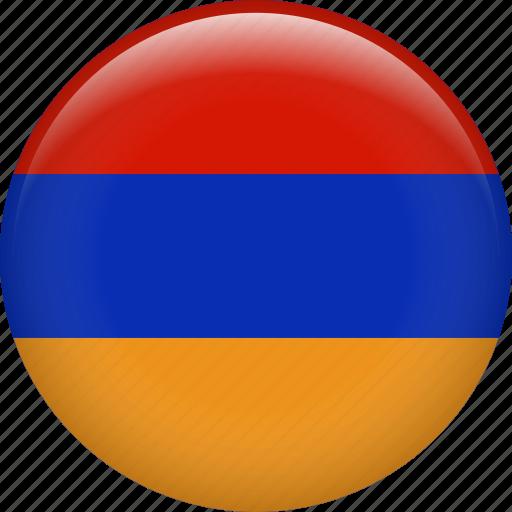 almenia, armenia, country, flag, nation icon