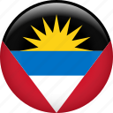 antigua and barbuda, country, flag, nation icon
