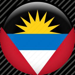 antigua and barbuda, country, flag, nation icon