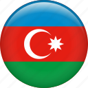 azerbaijan, country, flag, nation icon