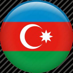 azerbaijan, country, flag, nation icon