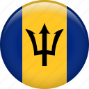 barbados, country, flag, national